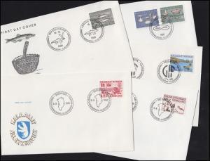 163-168 Grönland-Jahrgang 1986 komplett auf FDC
