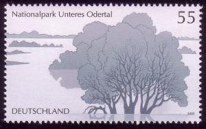 2343 Einzelmarke aus Block 62 Nationalpark Unteres Odertal Auenlandschaft, **
