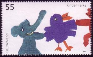 2360 Einzelmarke aus Block 64 Für uns Kinder - Tierkinder, postfrisch **