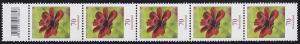 3189 Blume 70 Cent aus 200er-Rolle, 5er-Streifen mit Codierfeld -846 **