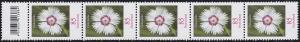 3116 Blume 85 Cent aus 500er-Rolle, 5er-Streifen mit Codierfeld -884, **