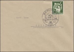 762 Tag der Briefmarke Postillion EF FDC ESSt BERLIN T.d.B. Flugzeug 12.1.1941