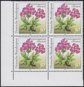 1506F Rennsteiggarten Wulfens Primel 50 Pf. OHNE Fluoreszenz, Eck-Vbl. u.l. **