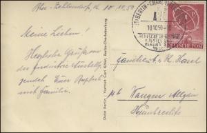 71 ERP EF auf AK (Bug) Funkturm SSt BERLIN-CHARLOTTENBURG Ausstellung 10.10.1950