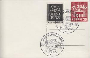 110-111 Volksaufstand auf AK SSt BERLIN-CHARLOTTENBURG Bundesversammlung 17.6.54