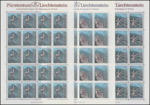 843-845 Der Untergang von Trisona 1984, Kleinbogen-Satz **