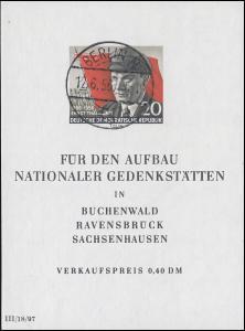 Block 14 Ernst Thälmann - mit Tagestempel