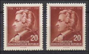 511 Mozart 20 Pf. als Varianten-Set mit hellem und dunklem Gesicht, Set **