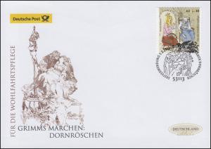 3136 Grimms Märchen Dornröschen, selbstklebend, Schmuck-FDC Deutschland exklusiv