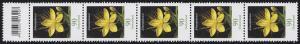 3304 Blume 90 Cent, 5er-Streifen mit Codierfeld **