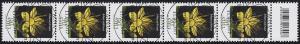 3304 Blume 90 Cent, 5er-Streifen mit Codierfeld, ESSt Bonn