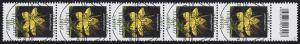 3304 Blumen 90 Cent, 5er-Streifen mit Codierfeld, ESSt Berlin