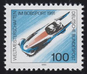 1496 Einzelmarke aus Block 23 Bob-WM Altenberg 1991, postfrisch **