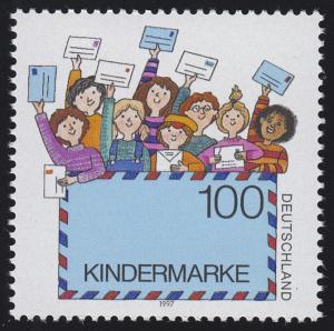 1933 Einzelmarke aus Block 40 Für uns Kinder - Luftpostbrief, postfrisch