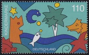 1980 Einzelmarke aus Block 42 Für uns Kinder - Meerestiere, postfrisch