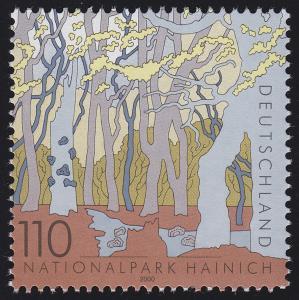 2105 Einzelmarke aus Block 52 Nationalpark Hainich 2000, postfrisch