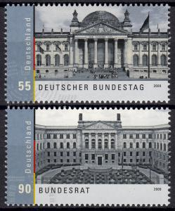 2757-2758 Einzelmarken aus Block 76 Bundestag und Bundesrat, Satz **