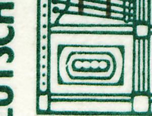 HBl. 31 aus MH 26 SWK 1989 mit PLF I (1342 I), Feld 7, postfrisch