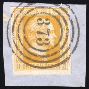 Preußen 8 König Friedrich Wilhelm IV., Nummernstempel 373 perfekt auf Briefstück