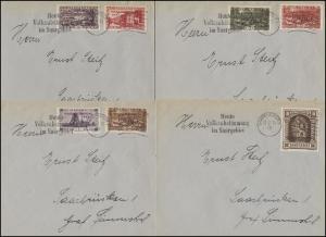 178-194 Freimarken kpl. auf 9 Sammlerbriefen vom Tag der Volksabstimmung 13.1.35