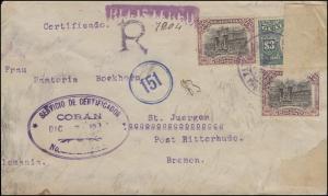 Zensur Deutsches Reich Verordnung 15.11.18 Guatemala-R-Brief RITTERSHUDE 20.1.21