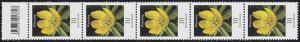 3314 Blume 10 Cent aus 200er-Rolle, 5er-Streifen mit Codierfeld **