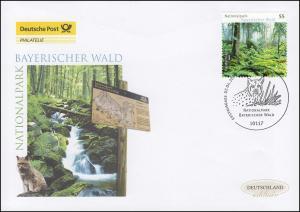 2452 Nationalpark Bayerischer Wald / Luchs, Schmuck-FDC Deutschland exklusiv