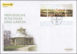 Block 66 Preußische Schlösser und Gärten, Schmuck-FDC Deutschland exklusiv