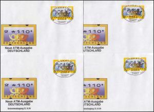 3.2 Posthörner MWZD 8 ATM 10-440 Pf., Satz auf 8 FDC mit ESST Köln 22.10.99