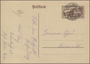Saargebiet Postkarte P 20 Saarlouis 40 C. VÖLKLINGEN 1.4.1932
