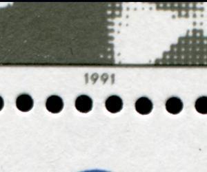 Block 24DD Lilienthal 1991 mit Doppeldruck der Farbe Schwarz, **