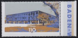 1974 Landtag Stuttgart mit Verzähnung oben in der Beschriftung, Randstück **