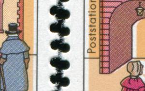 1564 Wofa 60 Pf. Passerverschiebung Hintergrund nach links bzw. rechts, Set **