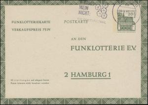 Funklotterie FP 8 Bauwerke Lorsch, Werbe-Stempel Postleitzahl BERLIN 14.4.1969!