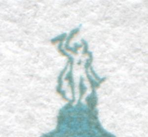 1468 SWK 45 Pf senkr. ER-3er-Streifen mit Naht, PLF Punkt über Figur, Feld 71, O