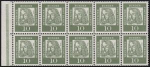 HBl. 11B aus MH 3 Dürer, RLV IV a, ** postfrisch