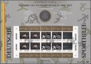 3307-3309 50 Jahre Deutsche Sporthilfe - Numisblatt 3/2017