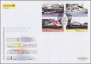 2560-2563 Wofa - Eisenbahnen, Satz auf Schmuck-FDC Deutschland exklusiv