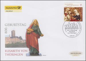 2628 Heilige Elisabeth von Thüringen, Schmuck-FDC Deutschland exklusiv
