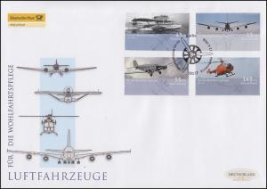 2670-2673 Wofa - Luftfahrzeuge, Satz auf Schmuck-FDC Deutschland exklusiv