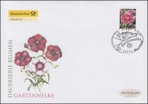2699 Blume Gartennelke 25 Cent - selbstklebend, Schmuck-FDC Deutschland exklusiv