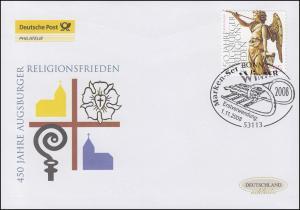2700I Winter Friedensengel - selbstklebend, Schmuck-FDC Deutschland exklusiv