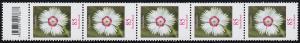 3116 Blume 85 Cent aus 200er-Rolle, 5er-Streifen mit Codierfeld -877 **