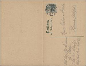 Postgebiet Oberbefehl Ost Postkarte P 2 von MITAU 27.3.1916 nach Hamm/Westf.