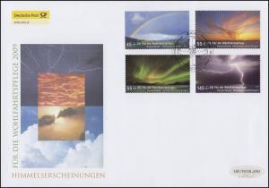 2707-2710 Wofa Himmelserscheinungen, Satz auf Schmuck-FDC Deutschland exklusiv