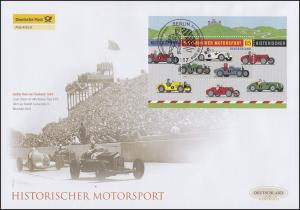 Block 75 Historischer Motorsport, Block auf Schmuck-FDC Deutschland exklusiv