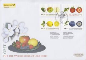 2769-2772 Wofa Obst, Satz auf Schmuck-FDC Deutschland exklusiv