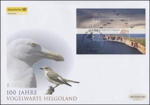 Block 77 Vogelwarte Helgoland, Block auf Schmuck-FDC Deutschland exklusiv