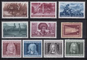 192-201 Liechtenstein-Jahrgang 1941 (10 Marken) komplett, postfrisch