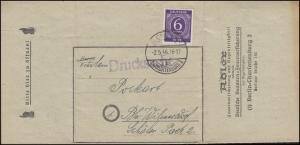 916 Ziffer 6 Pf Drucksache Adler-Feuerversicheung BERLIN-CHARLOTTENBURG 2.5.46